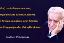 Photo of Bəxtiyar Vahabzadə – Azərbaycan – Türkiyə, Yurd yad əlində