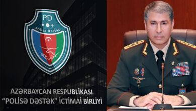 """Photo of """"Polisə Dəstək"""" İctimai Birliyi Naziri təbrik etdi"""