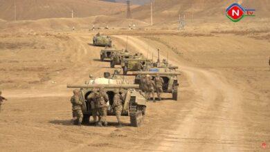 Photo of Naxçıvanda tabor və divizion komandirləri döyüş hazırlıqlarını nümayiş etdirdilər
