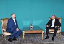 Photo of İlham Əliyev ilə Aleksandr Lukaşenkonun qeyri-rəsmi görüşü olub