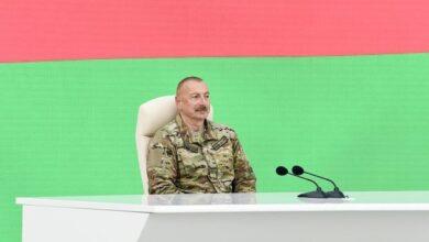 """Photo of İlham Əliyev: """"Başımızı aldatmaq, müftə silah almaq – bu idi onların niyyətləri"""""""