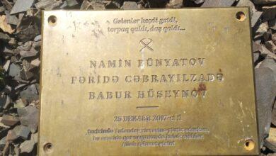 Photo of Qusarda həlak olan alpinistlərin xatirəsinə quraşdırılmış bürünc lövhə tapılıb