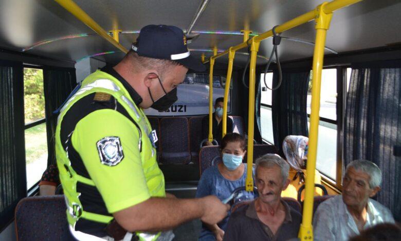 Photo of Mingəçevirdə yol polisi ictimai nəqliyyatda reyd keçirib
