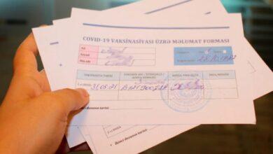 Photo of Oktyabrın 1-dən bu şəxslərdən də COVID-19 pasportu tələb olunacaq